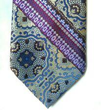 Vintage Men's 1970s Retro Tie, Arrow 100% Polyester, Purple and Gold Print