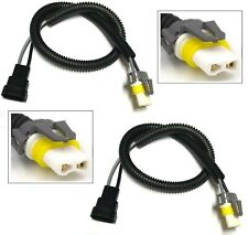 Extension Wire Ceramic 9006 HB4 Two Harness Head Light Low Beam Connector Socket