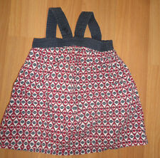 Baby Girl Old Navy Dress 100% Cotton 6-12 Months Blue Red White Ivory Worn Once