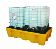 Double IBC Oil Chemical Bunded Drip Sump Spill Pallet