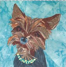 Young Yorkie paper piecing quilt pattern Silver Linings