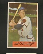 5933* 1954 Bowman # 32 Del Crandall Ex/Ex-Mt