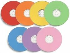 100-Pak Spin-X =COLOR THERMAL= DiamondSilver 48X 80-Min CD-R's (7 color mix)