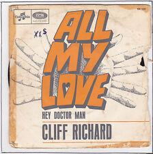 RICHARD Cliff Vinyle 45 tours 7 SP ALL MY LOVE F Reduit