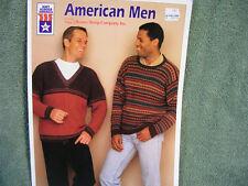 Brown Sheep Yarn's American Men Pattern book - 7 Mens sweater patterns!