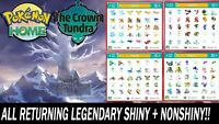 Crown Tundra All Legendary & Mythical Pokemon Shiny & NonShiny!!