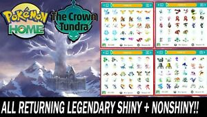 Crown Tundra All Legendary & Mythical Pokemon Shiny & NonShiny!!
