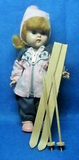 1955 Vogue Ginny Straight Leg Walker Doll In Original Ski Outfit