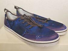 HUK Mania Performance Fishing Boat Shoes sz 10.5 Men's Blue