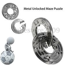 Metal adult Maze Puzzle Labyrinth IQ Mind Brain Teaser Educational Toy Gift