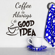 Coffee Cup Wall Sticker Home Decor Wall Decal Vinyl Removable Mural for Cafe