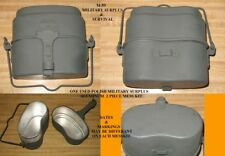 POLISH MILITARY SURPLUS O.D. ALUMINUM MESS KIT - USED