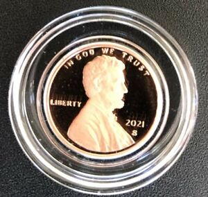 2021 S Proof Lincoln Deep Cameo Penny in air-tite capsule