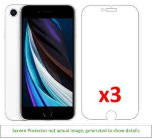 3x iPhone SE (2020) Anti-Scratch Screen Protector w/ cloth