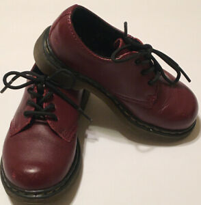 """Dr Martens """"Colby"""" Brown Leather Lace Up Shoes Toddler Boys Size 9"""