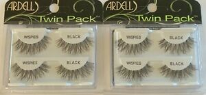 (2) Ardell Twin Pack EYELASHES , Wispies Black