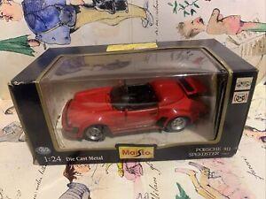 MAISTO Collezione  PORSCHE 911 SPEEDSTER 1989 1:24 Box Perfect Scatola Perfetta