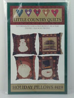 2002 Little Country Quilts Holiday Pillows Pattern #419 Snowman Santa Tree