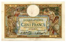 1924 FRANCIA RARA BANCONOTA DA 100 FRANCHI OLIVER MERSON