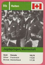 German Trade Card 1968 Olympics Equestrian Team Jumping Gold Medal Winner Canada
