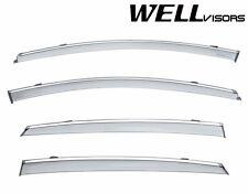 For 2016-Up Chevrolet Malibu WellVisors Side Window Visors Guards W/ Chrome Trim
