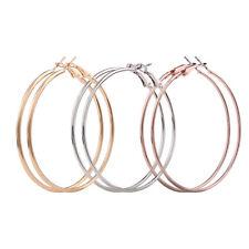 3Pair New Fashion Lady Women Thin Round Big Large Dangle Hoop Loop Earrings Gift