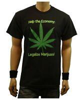 LEGALIZE MARIJUANA Pot Weed Black Printed Graphic T-Shirt Fashion Urban Tee