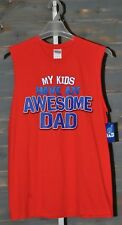 Gildan My Kids Have An Awesome Dad Red Tank Top, M (38/40)