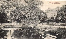 Lower Clapton Pond in 1880 # 435 by Charles Martin.