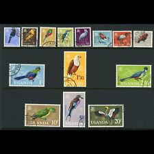 UGANDA 1965 Birds. Set of 14 Values. SG 113-126. Fine Used. (WB967)