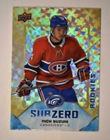 2019-20 ICE Sub Zero Gold Parallel Rookies #SZ-46 Nick Suzuki RC /24