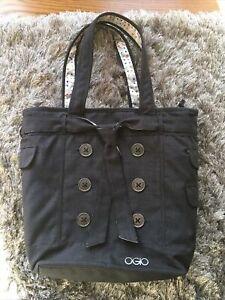 OGIO Hamptons Women's Laptop Zip Top Tote Bag Shoulder Purse Dark Grey Work