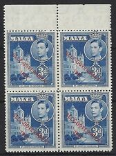 George VI (1936-1952) Maltese Stamp Blocks (Pre-1964)