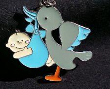 12Baby Shower Favors Key Chains Boy Stork ,Llaveros, Gift,Party, niño,Recuerdos