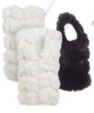 Manteaux et vestes gilets en fausse fourrure pour femme