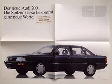 AUDI Prospekt Poster - Audi 200 C3 - 08-1983 - Top!!! Rarität!