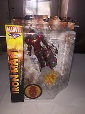MARVEL SELECT TOYS IRON MAN  W/BASE ACTION FIGURE NEW IN BOX