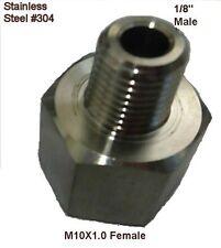 "Pipe Fitting 1/8"" NPT Male to Metric M10 M10X1 Female Adaptor Air Water N-JCP"