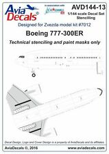 Avia Decals 1/144 Boeing 777-300ER Stencils Decals and Paint Masks for Zvezda