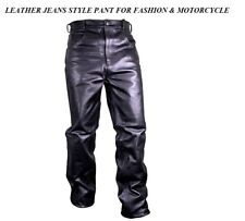 Men's Motorcycle Fashion Rider Biker Touring Motorbike Leather Pants Jeans Style