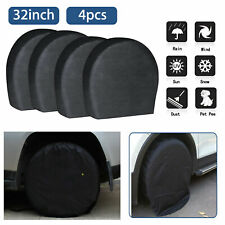 """New ListingSet of 4 Wheel Tire Covers For Rv Trailer Camper Car Truck And Motor Home 32"""""""