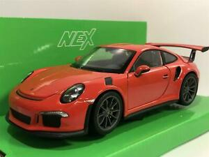 Porsche 911 GT3 RS 2016 Red 1:24/7 Scale Welly 24080R