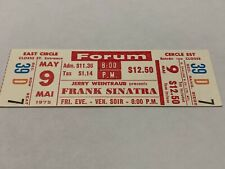 FRANK SINATRA 1975 CONCERT TICKET THE FORUM CANADA JAZZ BIG BAND BLUE EYES