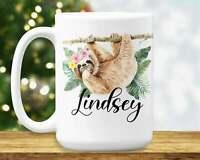 Sloth Mug Sloth Birthday Gift For Girls Sloth Gifts Mug Funny Coffee Cup Gift...