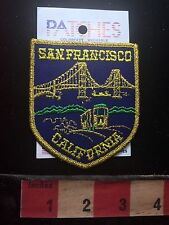 San Francisco Bay's Golden Gate Bridge & Cable Car California Patch HTF 73WW