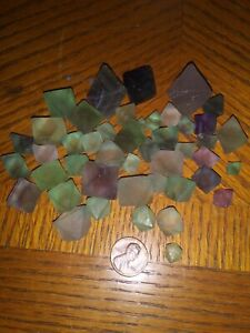250+ Carats Natural beautiful Fluorite Crystal Octahedrons Rock Specimen