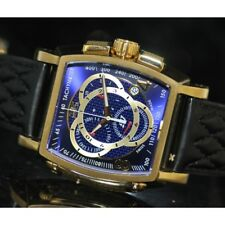 Invicta Men's Rare S1 Rally Swiss Chrono Blue Dial Black Leather Watch 5780