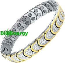 TITANIUM Magnetic Energy  Armband  Power Bracelet Health  Bio MAGNET