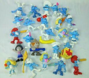 "SMURFS  24pc Peyo 2011 & 2013 Smurfs 3"" figures for McDonalds PVC Collectibles."