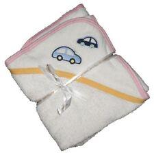 100% Ägyptische Weiß Baumwolle Baby Kapuzentuch Pharaoh Linnen Weiß Yellow&pink